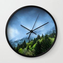 Landscape fog #society6 Wall Clock