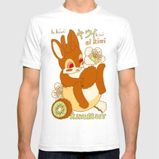 Jackalope and Kiwi White Mens Fitted Tee SMALL
