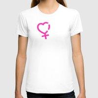 lesbian T-shirts featuring NO DISCRIMINES LESBIAN SIMBOLS by Piensa Gay