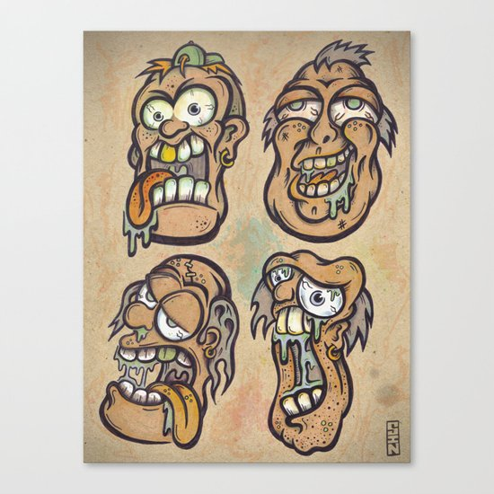FOURHEADS ARE BETTER THAN ONE Canvas Print