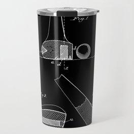 Golf Club Patent (v2) - Black Travel Mug