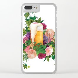 Beer Bouquet Clear iPhone Case