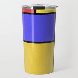 Piet Mondrian Patterns Travel Mug