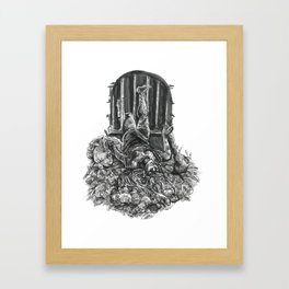 Inktober 2017: The Rat Princess Framed Art Print