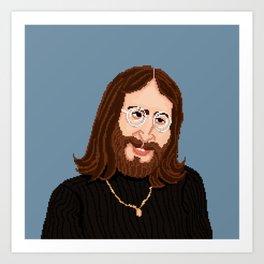Pixel John Art Print