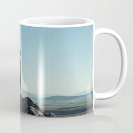 Alone in the blue summit Coffee Mug