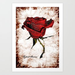 My Love is like a red red rose... Art Print