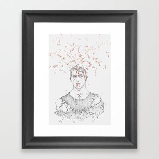 Data Fragmentation  Framed Art Print