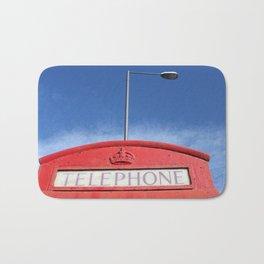 british telephone booth Bath Mat