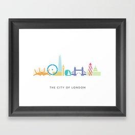 London Skyline White Framed Art Print