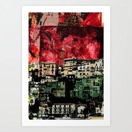 _veduta rossa Art Print