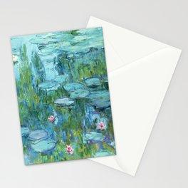Claude Monet Water Lilies / Nymphéas teal aqua Stationery Cards
