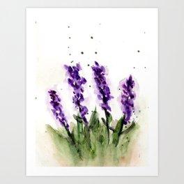 Watercolored Lavender Art Print