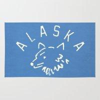 alaska Area & Throw Rugs featuring Alaska by Roland Lefox