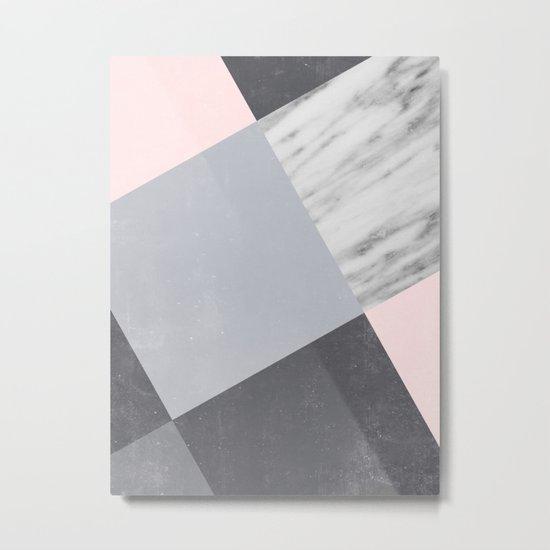 Neutral Collage Metal Print