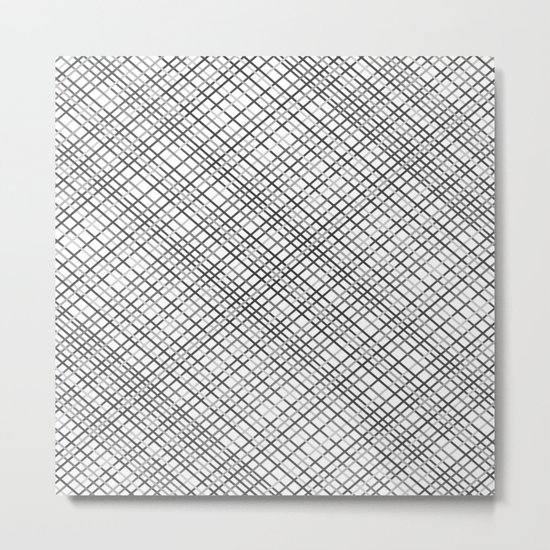 Weave 45 Black and White Metal Print