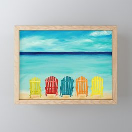 A Day At The Beach Framed Mini Art Print