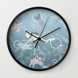 Scuba Dogs Wall Clock