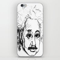 chibi iPhone & iPod Skins featuring Chibi Einstein by Hazel Bellhop