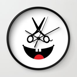Monster barber #society6 #decor #buyart #artprint Wall Clock