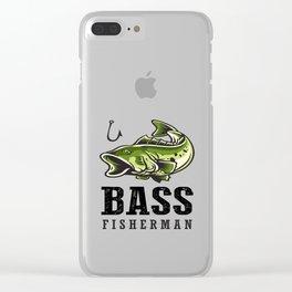 Loudmouth Sea Bass Fisherman's Fishing Fish Men's Fishermen Clear iPhone Case