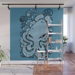 Octopus Squid Kraken Cthulhu Sea Creature - Sailor Blue Wall Mural