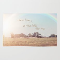 Farm Living is the Life for Me Rug
