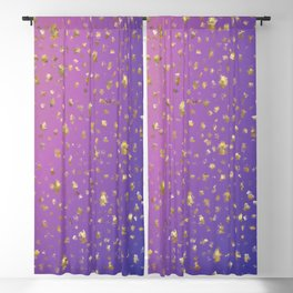 many small golden squares on a delicate rainbow background Blackout Curtain