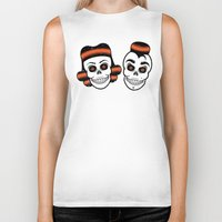 rockabilly Biker Tanks featuring Spooky Rockabilly Skulls. by Sparganum