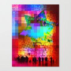 Modern Judaica- Wailing Star Canvas Print