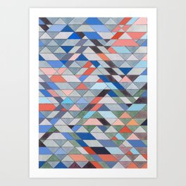Triangle Pattern No. 7 Diagonals Art Print