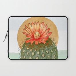 Cholla, Cactus flower in the Desert_digital drawing & hand painted modern watercolor Laptop Sleeve