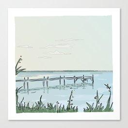 the transparant pier Canvas Print
