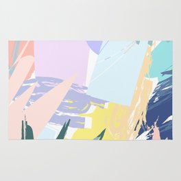 Pastel Collage Palms Rug