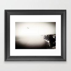 The Sea, The Sky, The Seagulls Framed Art Print