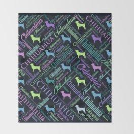 Chihuahua Word Art Throw Blanket