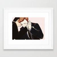 klaine Framed Art Prints featuring klaine wedding dance by suitfer