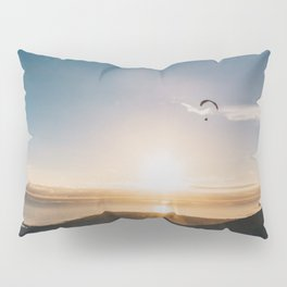 Sunset Paragliding over beach and mountains - Landscape Photography #Society6 Pillow Sham