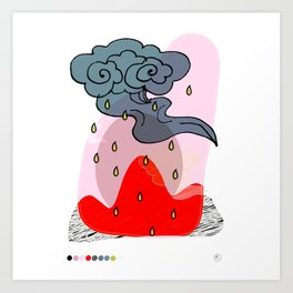 It's a raining day Art Print