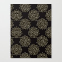 Floral Trendy Arabesque Mandalas Canvas Print