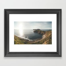 Ocean at sunset Framed Art Print