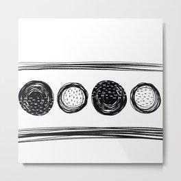 Black White One Metal Print