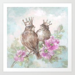 French Crown Songbirds II Art Print