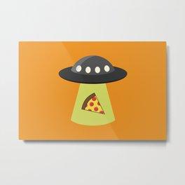 Take Me to Your Pizza Metal Print