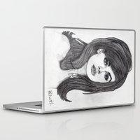 cassandra jean Laptop & iPad Skins featuring Jean Shrimpton by Paul Nelson-Esch Art