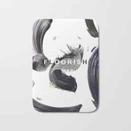 Floorish Brush Bath Mat