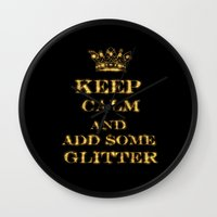 keep calm Wall Clocks featuring Keep calm by UtArt