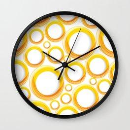 Yellow Cicles 01 Wall Clock