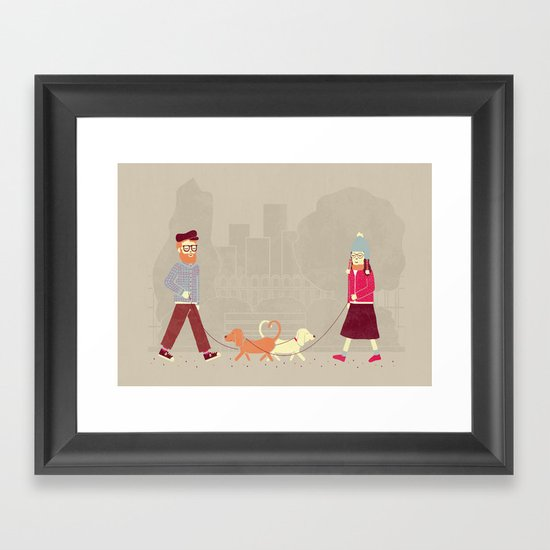 Dog People Framed Art Print