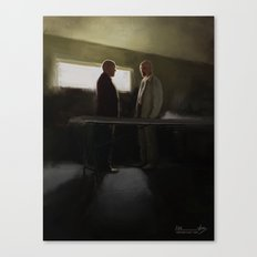 Hank vs Heisenberg Canvas Print